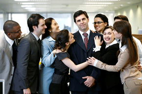 Hopefully brownnosing isn't quite this common in your office. Check out these corporate life pictures to learn more.