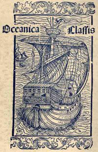 Christopher Columbus Image Gallery A caravel under sail, which was part of Christopher Columbus' (1451 - 1506) first letter to King Ferdinand and Queen Isabella of Spain, after he had set sail to find the New World. See more pictures of Christopher Columbus.