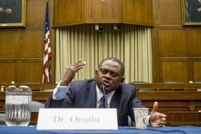 Forensic pathologist and neuropathologist Dr. Bennet Omalu is credited with discovering chronic traumatic encephalopathy in former football players.