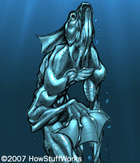 The Deep Ones are humanoid fish creatures who worship Cthulhu and other Great Old Ones.