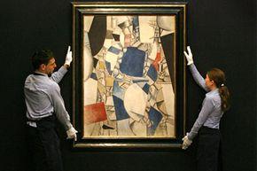 "Fernand Léger's ""Etude pour la Femme Bleu"" was exhibited in London before its 2008 Sotheby's sale."