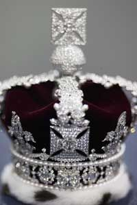 Cullinan II, the Lesser Star of Africa, was cut into many smaller diamonds that are in the Imperial State Crown.
