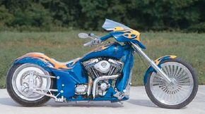 Custom Shop Cycles Pro Street Chopper is a custom chopper built for a charity. See more chopper pictures.
