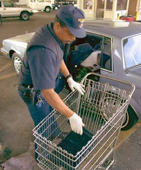 In this car entering the U.S. from Mexico, customs inspectors uncovered 40 kilos of marijuana.