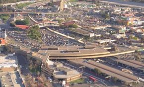 Customs monitors the movement of goods across the San Ysidro border between California and Mexico. This border crossing is the busiest crossing point in the United States.