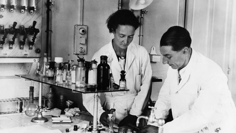 Frederick Joliot and his wife Irene Curie