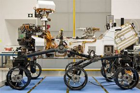 There it is, NASA's latest fearless Mars rover. About the size of a small SUV, Curiosity is well-equipped for a tour of Gale Crater on Mars. See pictures of Mars landings.