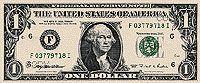 U.S. $1 bank note