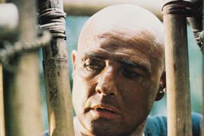 """Brando, as Col. Walter E. Kurtz certainly didn't make the production of """"Apocalypse Now"""" any easier."""