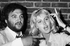 """John Belushi with wife Judith poses at the premiere party for """"Animal House,"""" a project that wasn't as ill-fated as """"Atuk"""" would prove to be."""