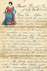 A letter home during the Civil War from John V. Harrington of the 3rd Delaware Infantry to his brother-in-law James Vickers