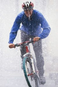 Getting caught out in the rain while cycling can be exhilarating -- but you need to be even more careful on your bike.