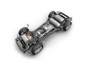The Cadillac Provoq's E-Flex chassis