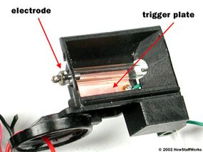 The tube sits in front of the trigger plate.
