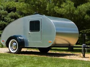 A classic teardrop camper is about as simple as campers get.