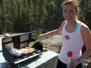 Just because you're camping in the woods, doesn't mean you can't cook up a delicious breakfast.