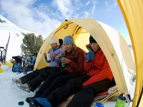 If you're planning on camping in the cold, pack plenty of layers and prepare to drink lots of hot cocoa.