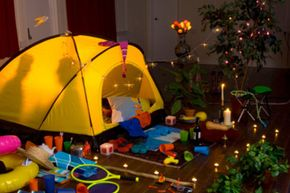 Camping indoors with the family can be just as exciting and creative as a trip to the woods.