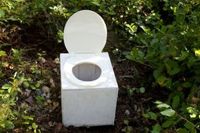 If you don't have a privacy tent, then place your toilet near a bush toprovide privacy.