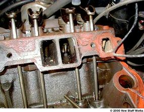 A pushrod engine