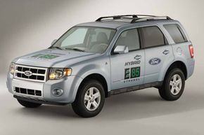 Some vehicles, like this Ford Escape Hybrid E85, are specially designed to run on a mixture of 85 percent ethanol and 15 percent gasoline. But how will your car's engine tolerate even 15 percent ethanol? Check out these Future Hybrid Car Pictures to learn more!