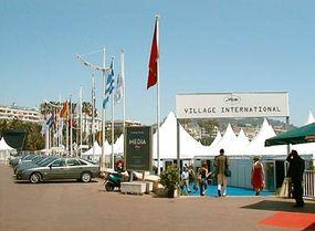 Village International: Tent-city outside the Palais.