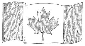 Many citizens proudly fly the Canadian flag