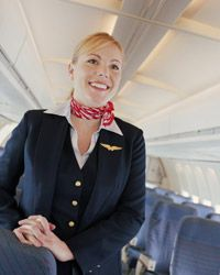 Flight attendants are never in one place for long.