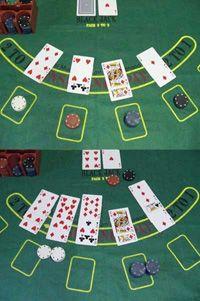 A blackjack game