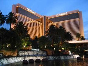 The Mirage Hotel and Casino on the Las Vegas strip. See more casino pictures.