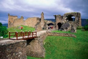 The ruins of Urquhart Casle in Scotland