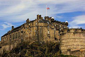 Edinburgh Castle in Scotland was built high on bedrock, so it didn't need a moat.