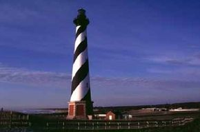It is a long walk up the steep stairs to the top of the Cape Hatteras Lighthouse, which is the tallest lighthouse, from ground to roof, in the United States. See more light house pictures.