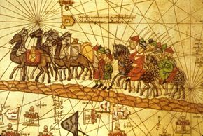 The Venetian merchant Marco Polo traveled along the Silk Road to China. Mercantilism gradually supplanted local barter systems.