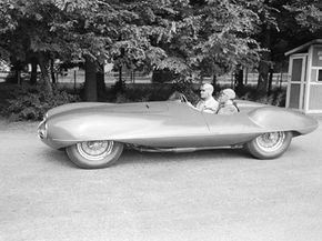 Secret car testing has a long and storied history. This Alfa Romeo was snapped during testing in Italy in 1952. The car wouldn't make its debut until the Le Mans Grand Prix in France a few days later.