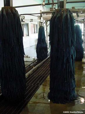 Most car washes have multiple pairs of scrubbers.