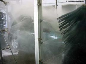 The rinse arch removes almost all of the residue left from the cleaning systems.