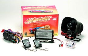The Sidewinder car-alarm system includes a number of sensors and alarm signals.