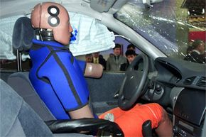 Test dummies like this one are still used when designing cars, but virtual reality and computer modeling are now essential parts of auto engineers' toolkits.