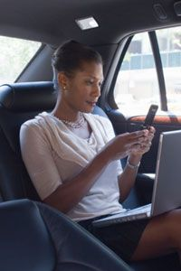 Many in-car Internet features will sync up with smartphones.