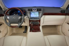 The plush interior of the 2010 Lexus LS 460L is designed for comfort and a quiet ride.