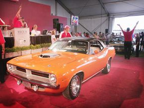 A 1970 Plymouth Cuda convertible at auction. See more pictures of custom cars.