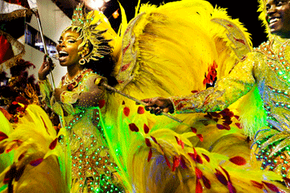 The elaborate costumes and spectacle make Rio's Carnival an international destination.