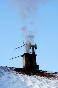 Chimney on a house