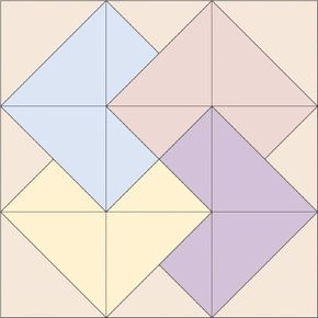 The Card Trick Quilt Block is from the Traditional Treasures  Quilt Design