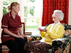 A home care aide can relieve some of the caregiver's burden.
