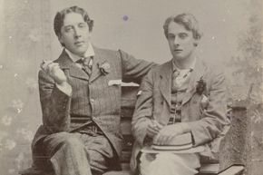A studio portrait of Oscar Wilde and Lord Alfred Douglas, 1894