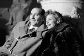 A happy Ingrid Bergman and her husband, Roberto Rossellini, in May 1953