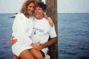 The infamous 1987 lap-sitting photograph of Gary Hart and Donna Rice
