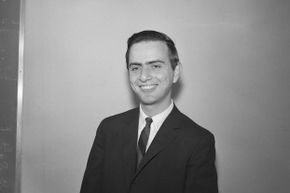 This 1961 photograph shows a young Carl Sagan shortly after he received in PhD. in astronomy and astrophysics.